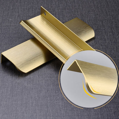 30 pack 5 in(128mm) Hole Centers Edge Cabinet Pull In Brushed Gold (LS7027GD) - Goldenwarm