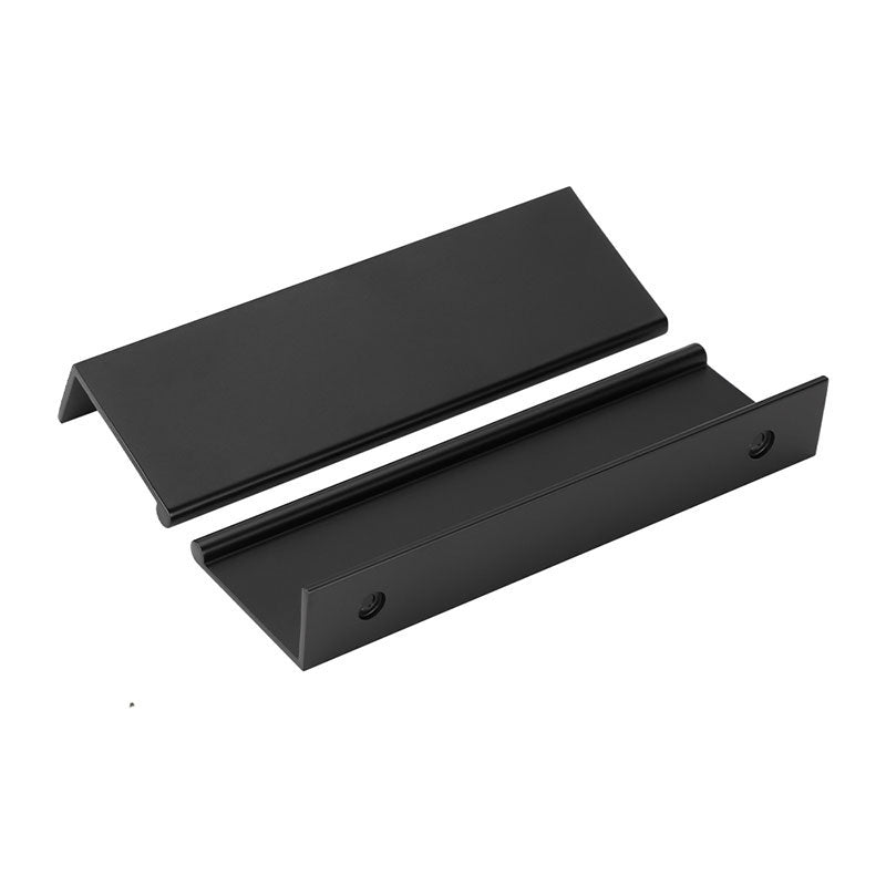10 Pack Modern Style Black Finger Edge Pull Furniture Hidden Handles(LS7030BK)