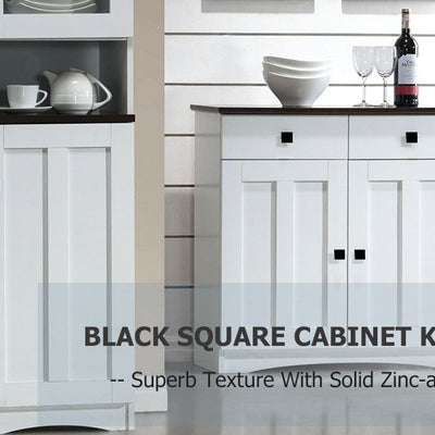 5 Pack square kitchen cabinet knobs and pulls 1.1 inch