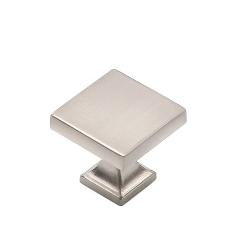square kitchen cabinet door knobs brushed nickel (6785SNB) - Goldenwarm