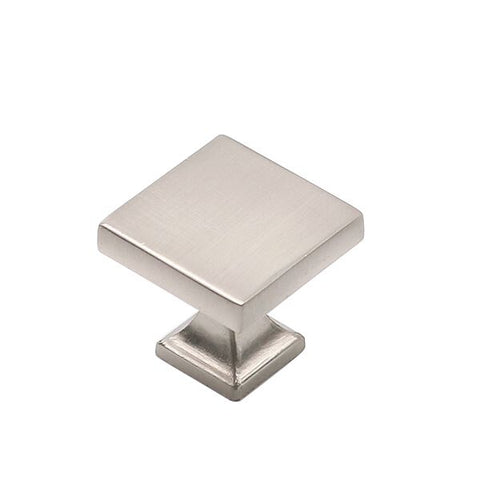 Goldenwarm square kitchen cabinet door knobs brushed nickel (6785SNB)