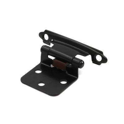 (5 pairs) SCH30BK variable overlay hinges with matte black finish