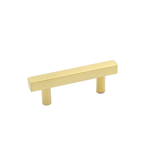 gold drawer handles 2-1/2 inches brushed brass finish(LS1212GD )
