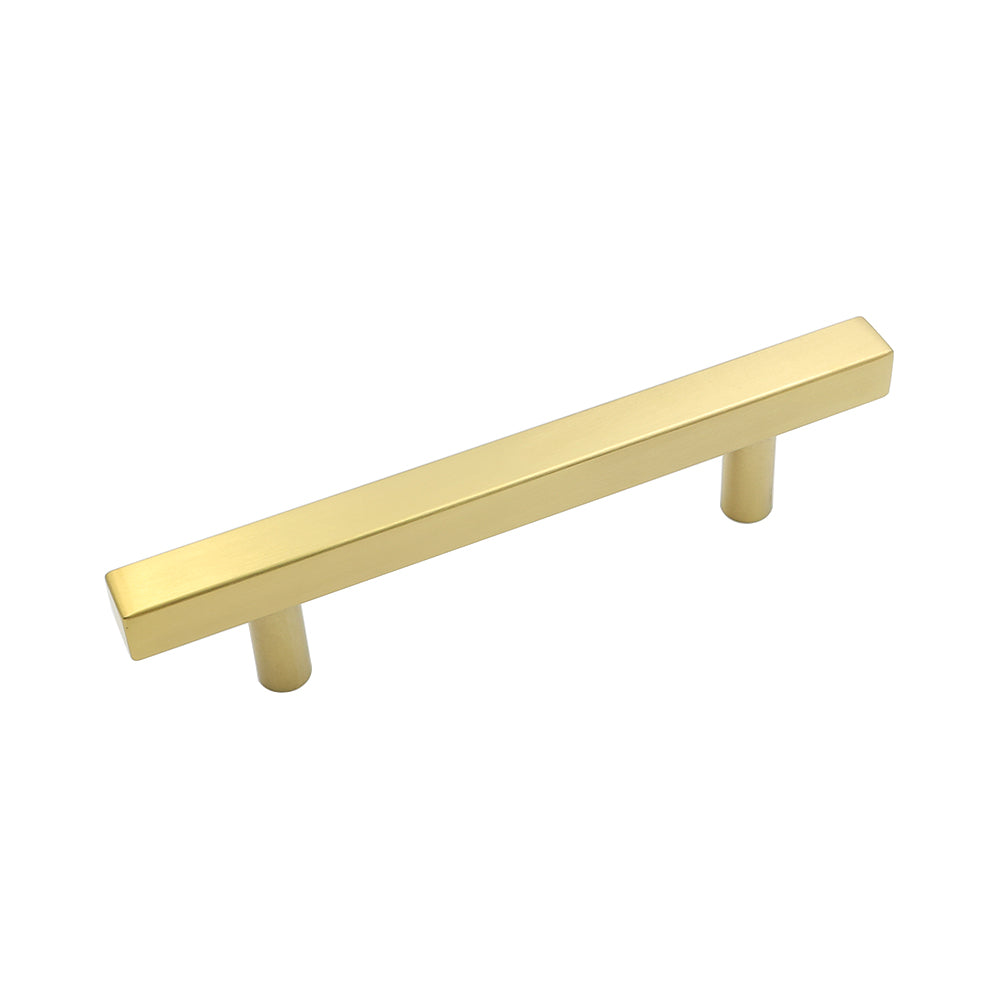 3-3/4inch center to center gold hardware pulls in brushed brass
