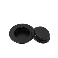 MC001 50mm Black Circular Flush Door Pull Recessed Sliding Door Handles
