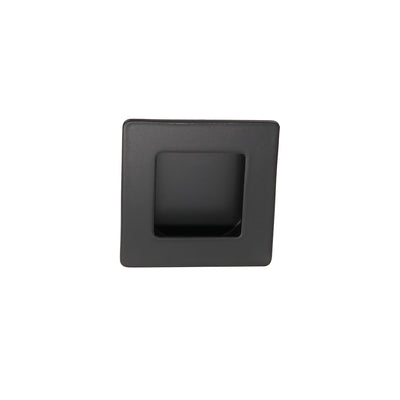 MC009-70BK  Black Flush Handle Square Flush pull