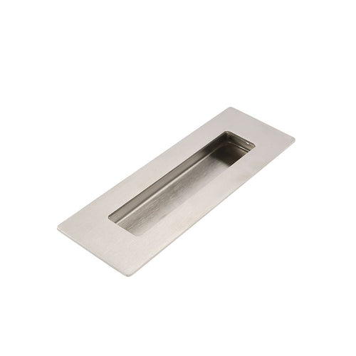 Rectangular flush recessed sliding door pull, brushed nickel (MC018BSS)