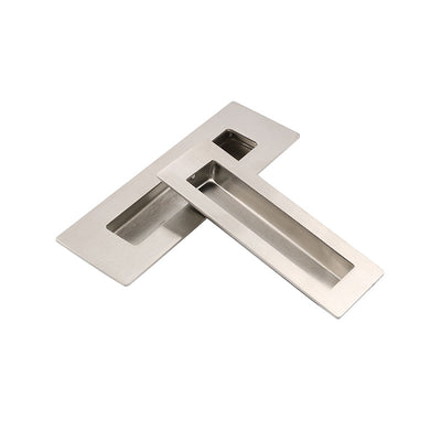"Modern Brushed Nickel 6"" Rectangle Flush Pull(20pack), MC018"