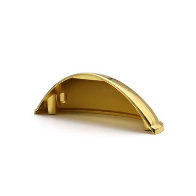 Brass Cup Cabinet Pull  3 Inch Center to Center (0313GD) - Goldenwarm