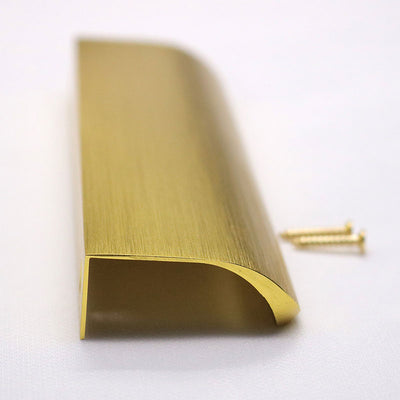 30 pack 5 in(128mm) Edge Pull Brushed Gold For Kitchen Door Drawer Cabinet (LS7027GD)