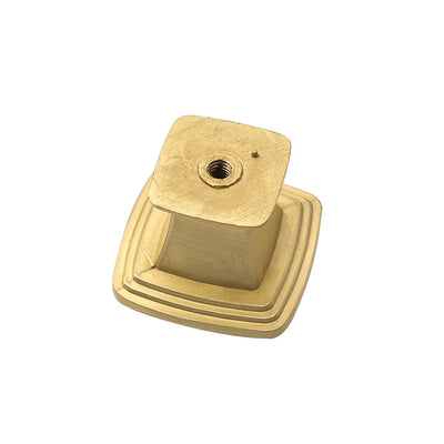 5 pack square knobs for cabinets, brushed brass finished (LS8791GD)
