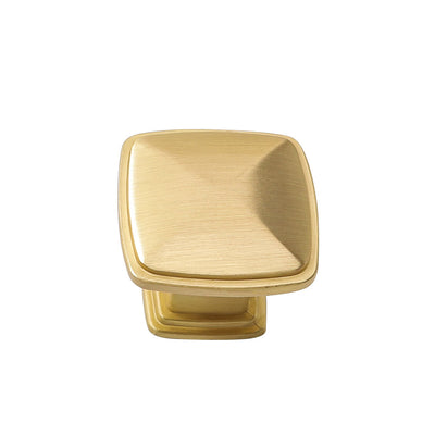 brushed gold square drawer knobs 1.2inch width