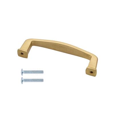 "Brushed Brass Cabinet Hardware Arch Pull -3"" (76mm) Hole Centers"