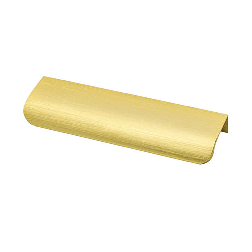 "Brushed Brass Cabinets Drawers Edge Pulls 6"" Overall Lengt"