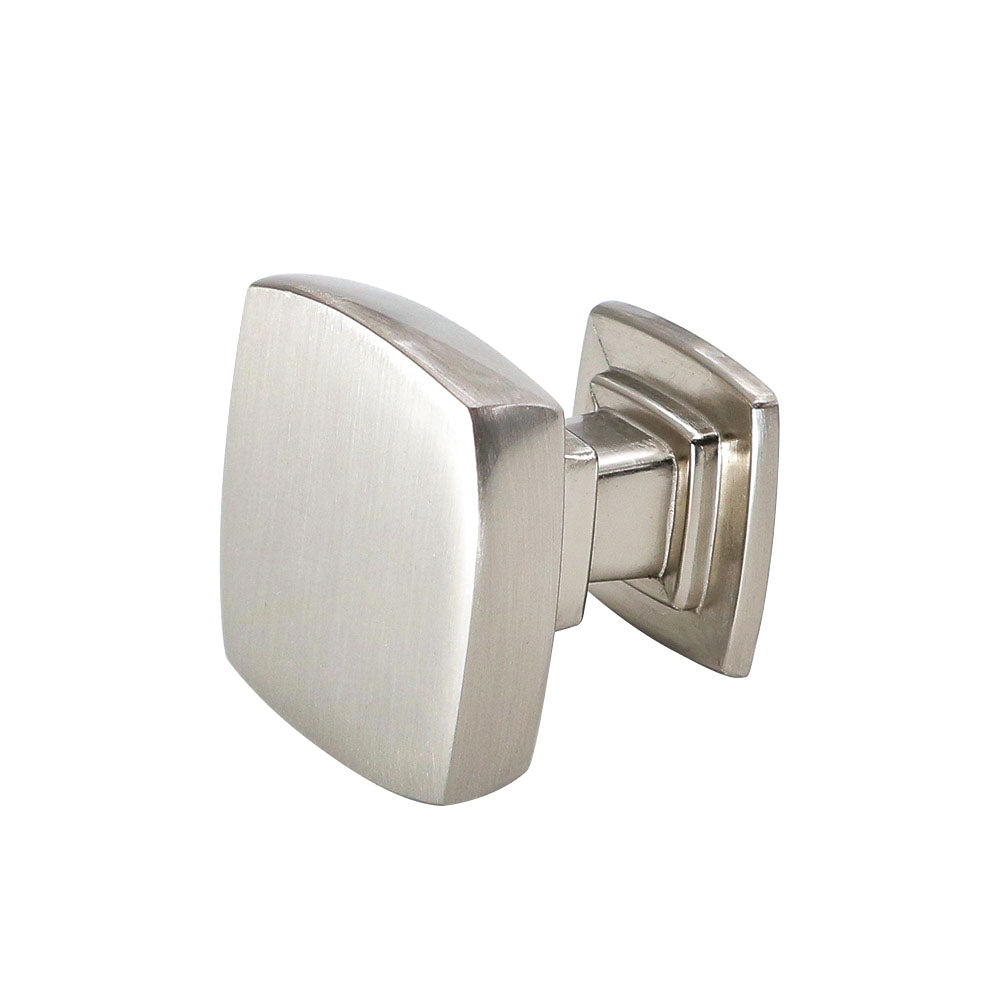 Solid Drawer Knobs Brushed Nickel (LS9016SNB)