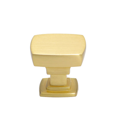 5 pack Square Drawer Knob Pull Brushed Gold (LS9016GD) - Goldenwarm