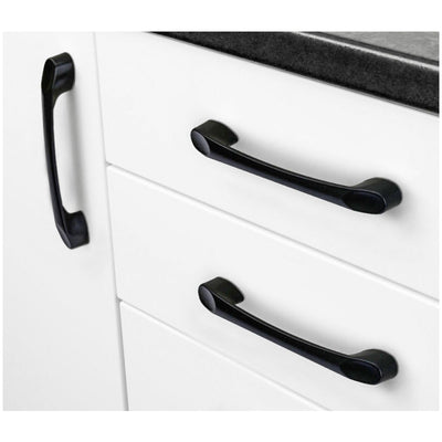 matte black kitchen cabinet hardware handles 5 inches(15 pack), 2388BK