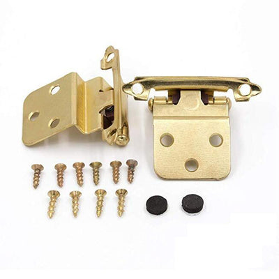 Cabinet hinges brushed brass face mount, 25 Pairs (50 Pieces), 38BB