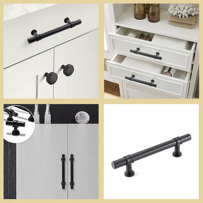 5 inch euro style cabinet pulls black with stainless steel(LST18BK128)