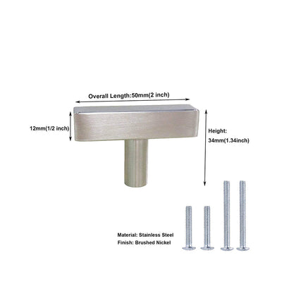 2 inch (50mm) Kitchen Cabinet Knobs Brushed Nickel, LSJ22BSS
