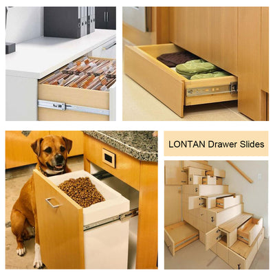 22 inch drawer slides with soft close, heavy duty (10 pair) - Goldenwarm