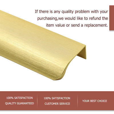 "10pack 6"" Long Edge Pull In Brushed Brass for Kitchen Garage Cabinet Drawers(LS7027GD) - Goldenwarm"