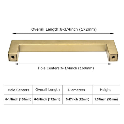 6-1/4 inch bar pulls golden cabinet hardware for sale (LSJ12GD)