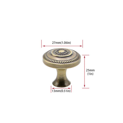 Dresser Knobs 1.06in Diameter Antique Bronze Knobs with Painting(0506AB) - Goldenwarm