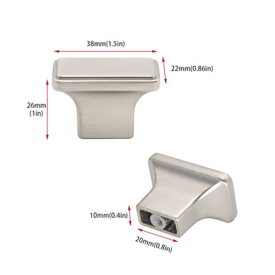square knobs brushed nickel for bathroom (2876SNB)