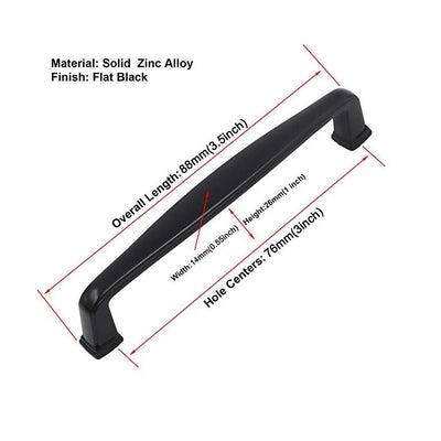 10 pack black 3inch pull hardware for cabinets(8791BK)