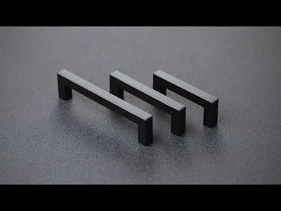 10 pack black cabinet handles square for home kitchen renovation(LSJ12BK)