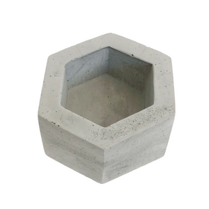 Gray Hexagon Holder by O Yeah Gifts