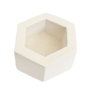 White Hexagon Holder by O Yeah Gifts