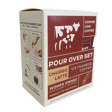 Load image into Gallery viewer, Copper Cow Coffee Churro Latte Evergreen Gift Basket Co