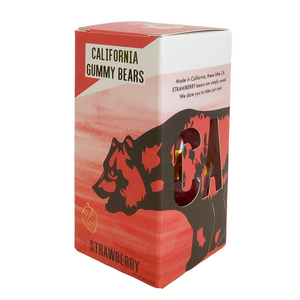 Strawberry California Gummy Bears sold by Evergreen Gift Basket Company