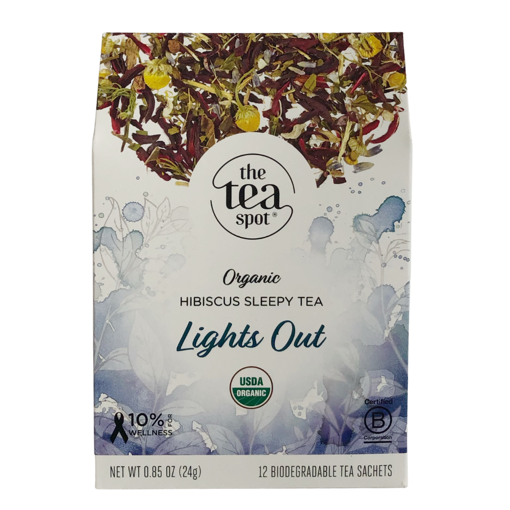 The Tea Spot Lights Out Tea Evergreen Gift Basket Co