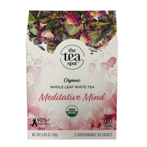 The Tea Spot Organic Meditative Mind Tea Evergreen Gift Basket Co