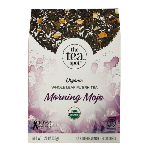 The Tea Spot Morning Mojo Organic Tea Evergreen Gift Basket Co
