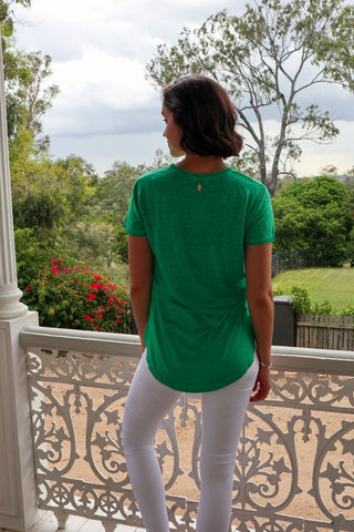 Oui T-Shirt Emerald - Kabana Shop