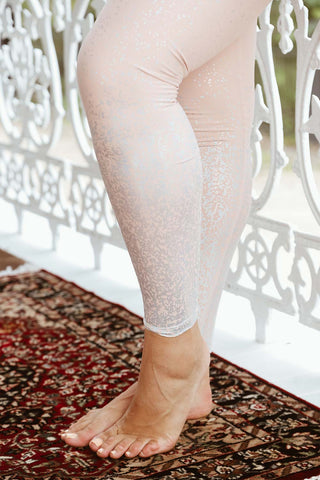 Ombre High Waisted Midi Legging - Tinted Rose - Kabana Shop
