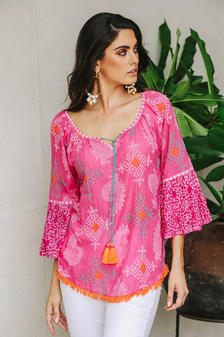 Amber Top Pink - Kabana Shop
