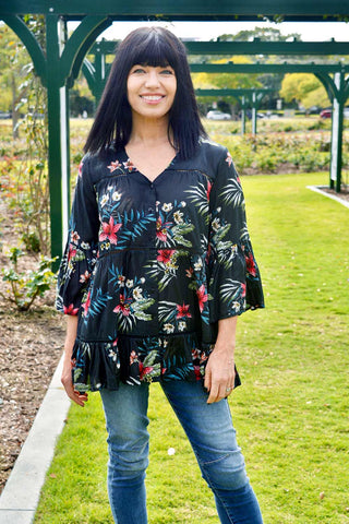 Avita Tunic Black - Kabana Shop