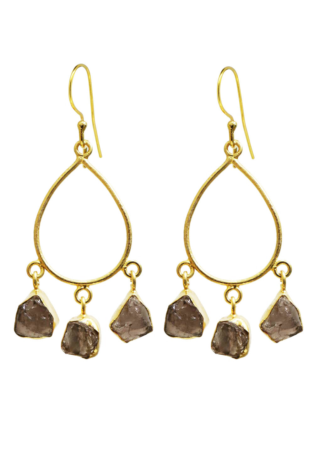 Aztec Drop Turkish Earrings Dark - Kabana Shop