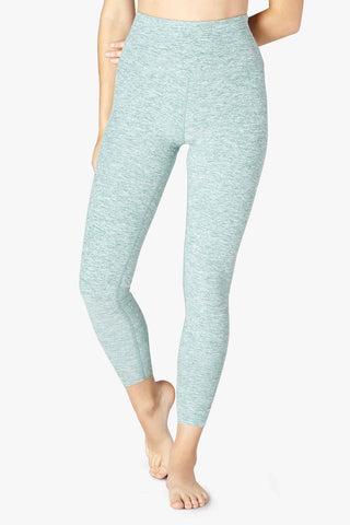 Spacedye High Waisted Midi Legging - True Teal - Kabana Shop