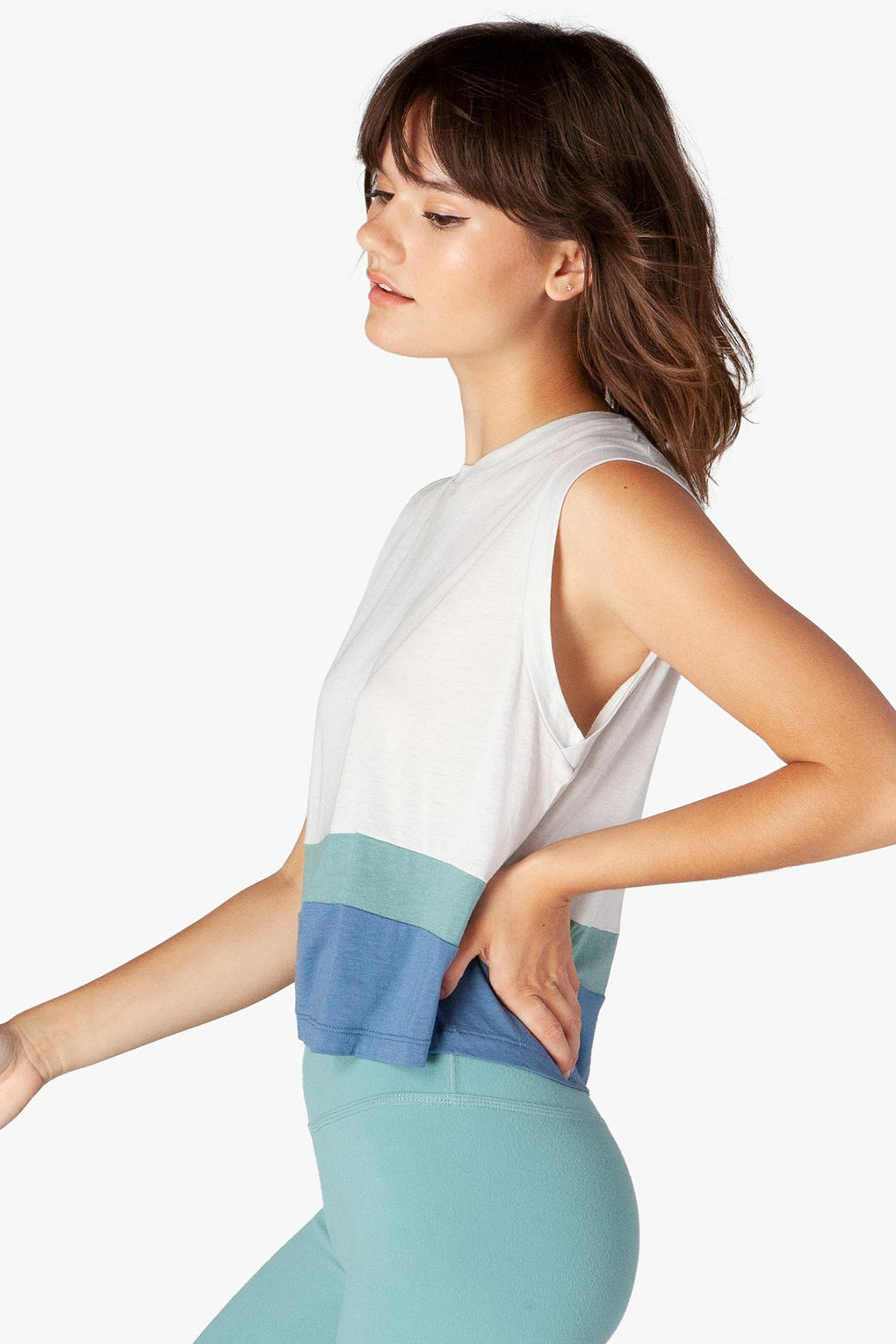 Beyond Vintage Pima Paneled Cropped Tank - Kabana Shop