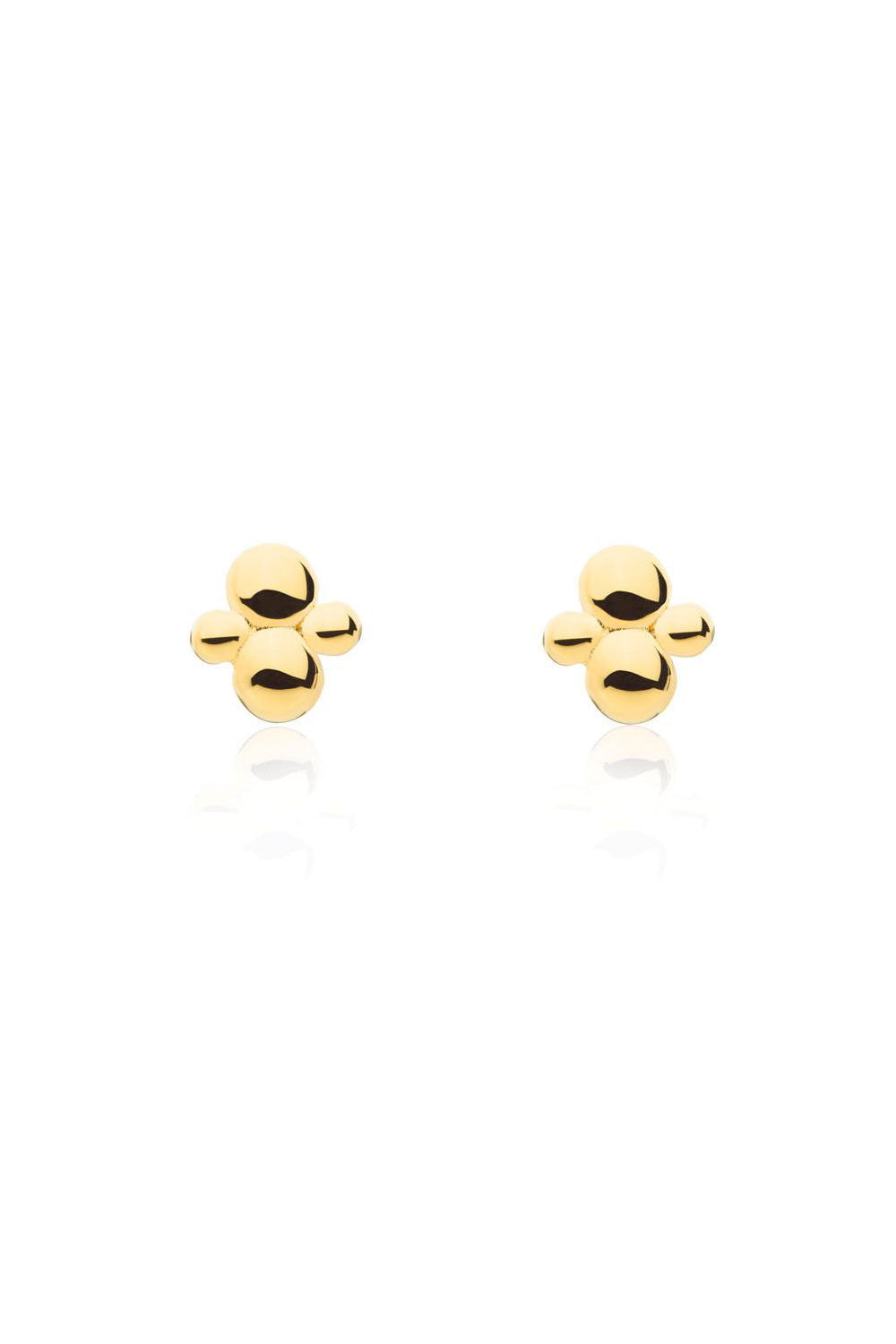 Cluster Stud Earrings Gold - Kabana Shop