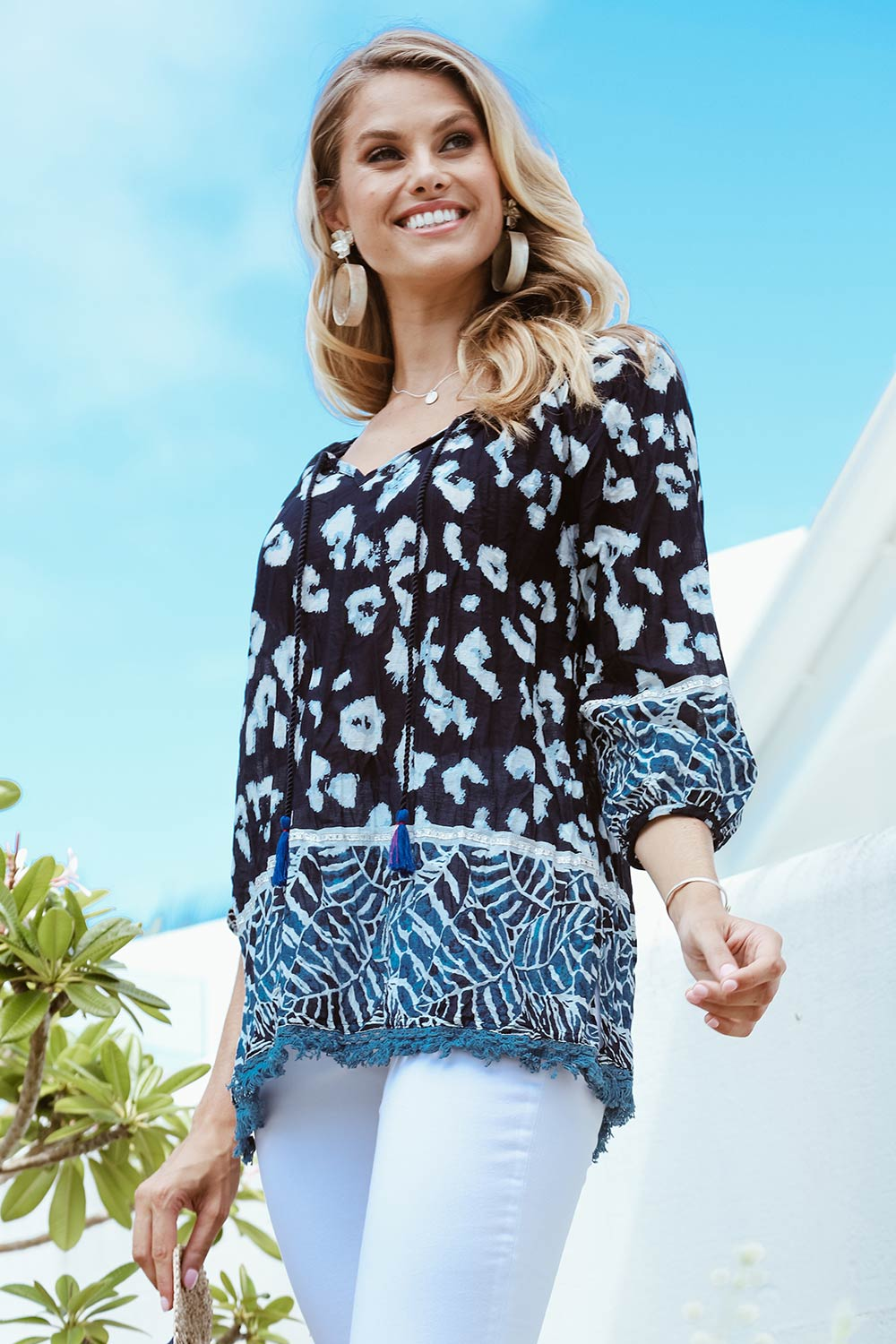 Coco Top Navy - Kabana Shop