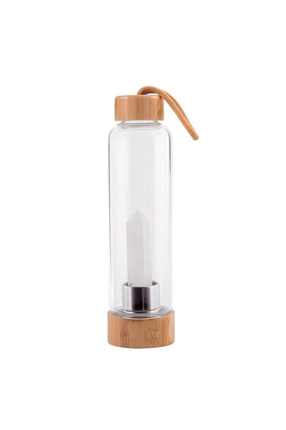 Crystal Water Bottle - Clear Quartz - Kabana Shop