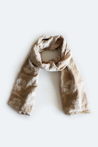 Daisy Scarf Natural - Kabana Shop