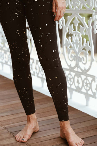 Foil Print Essential High Waist Legging - Kabana Shop